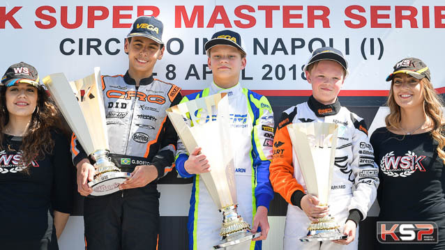 Aron wins at Sarno at the conclusion of the WSK Super Master Series
